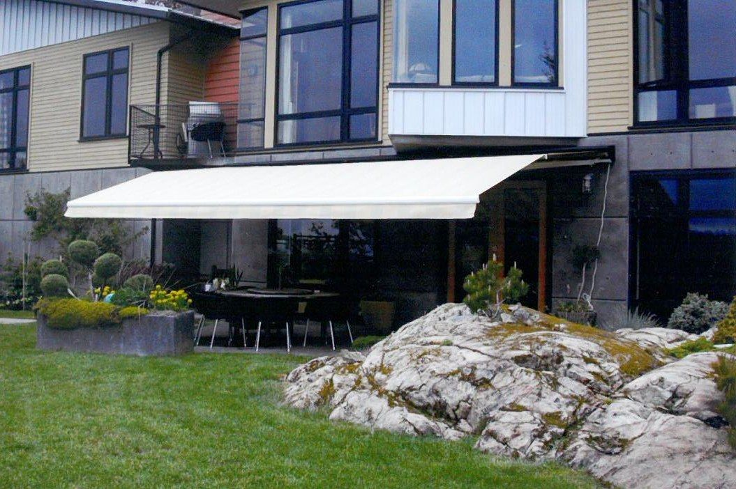 white colour awning