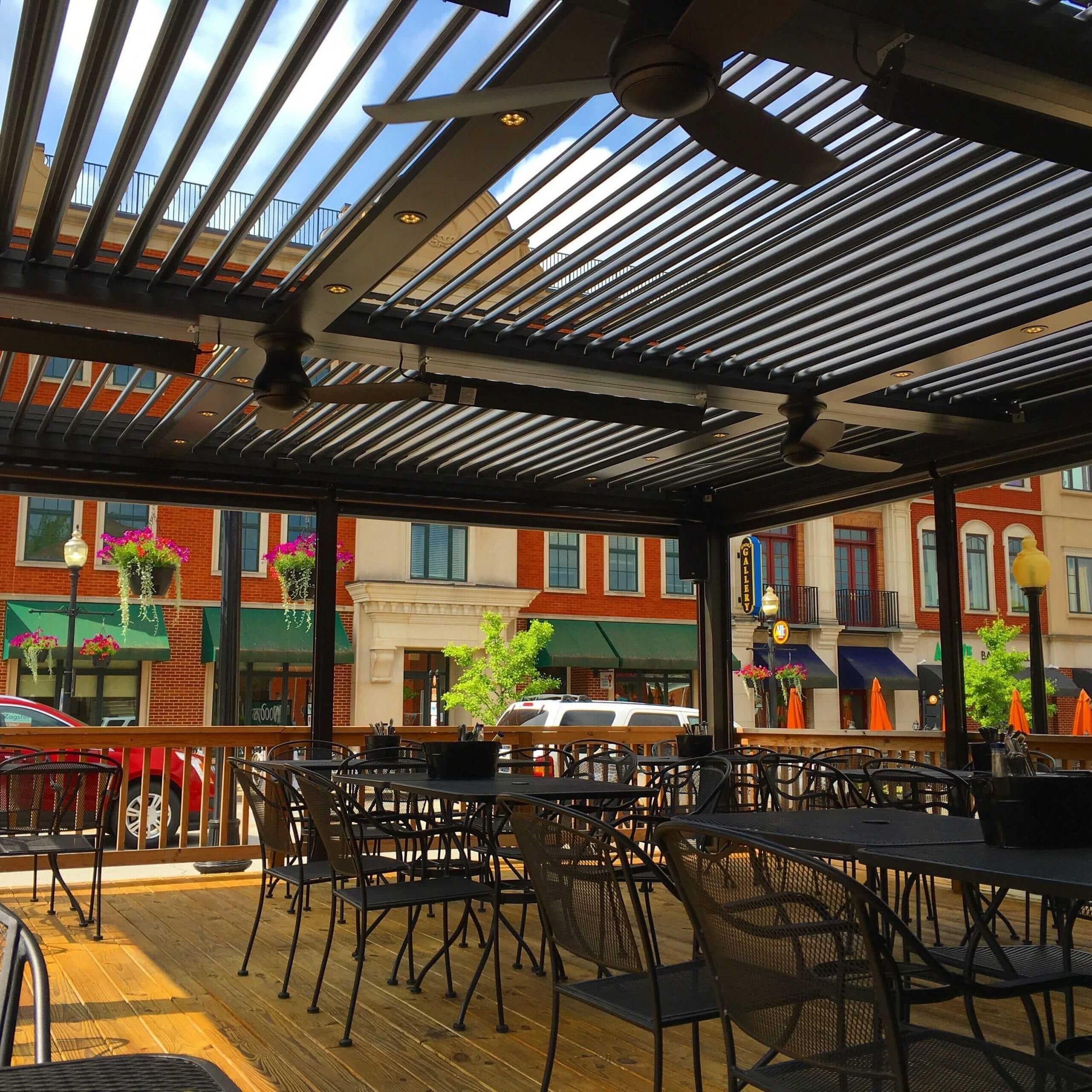 view of pergola installed at a restaurant