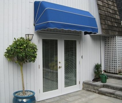 blue door awning