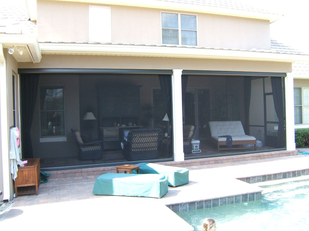 view of installed retractable screens