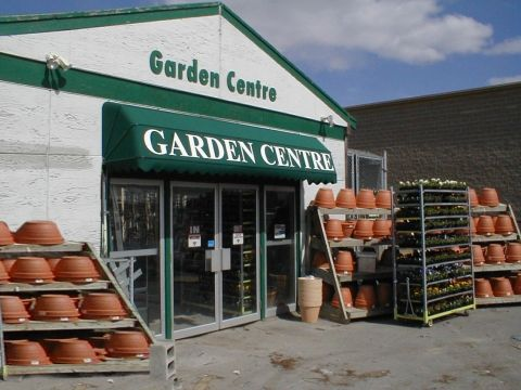 awning installed at garden centre