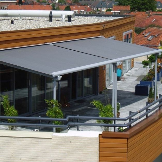 grey colour retractable roof