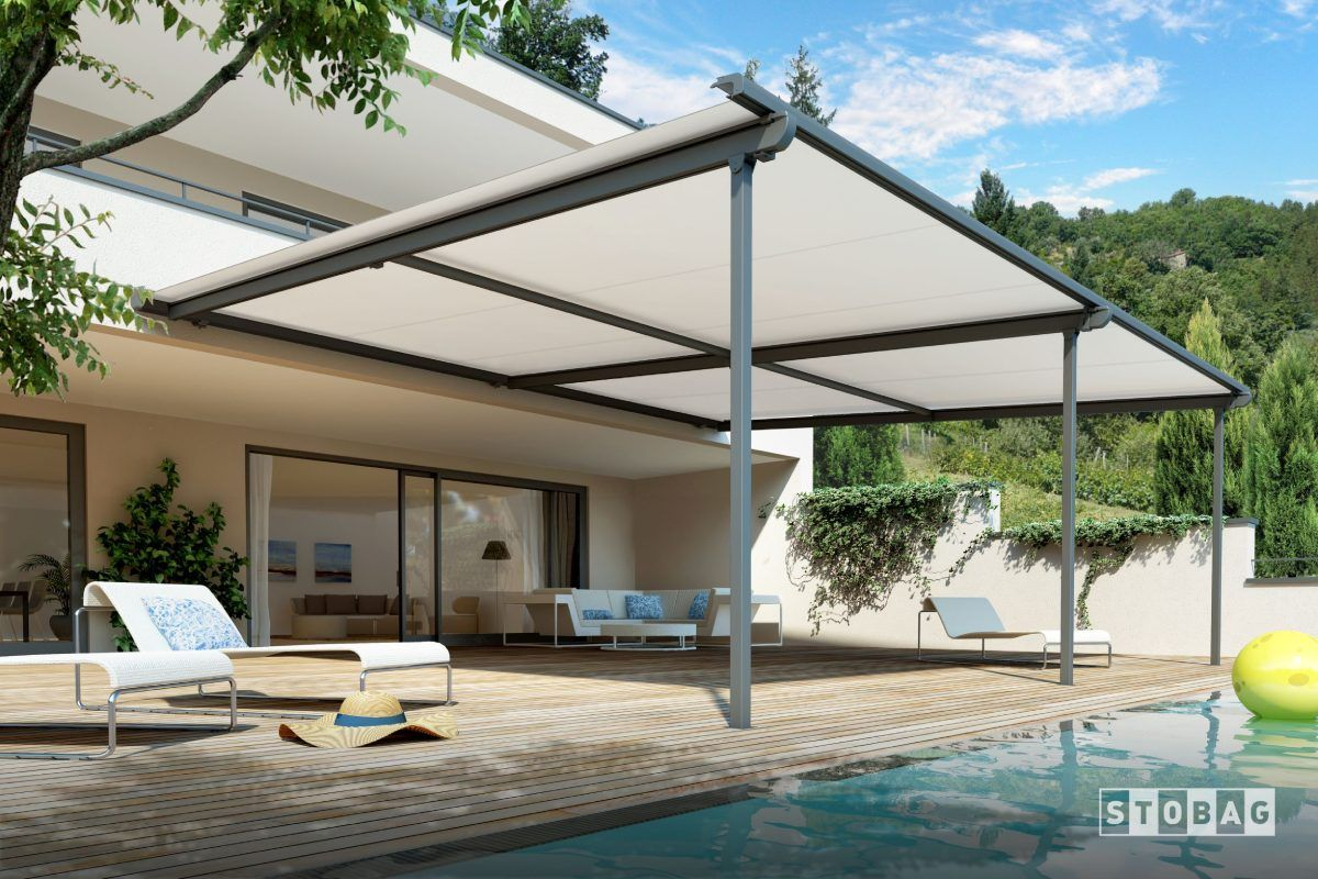 white colour retractable roofs